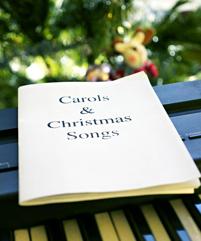 image about Christmas Caroling Songbook Printable identified as Free of charge downloadable printable carol booklet